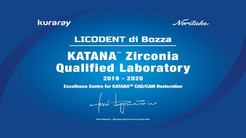 Licodent Laboratorio Certificato KATANA